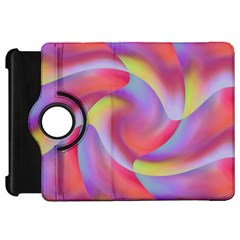 Colored Swirls Kindle Fire Hd 7  (1st Gen) Flip 360 Case by Colorfulart23