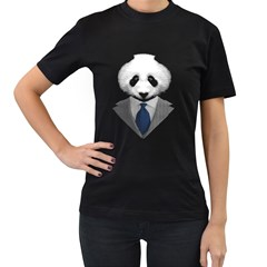 Mr  Panda Women s T Shirt (black)