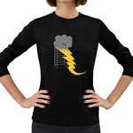 Ride The Lightning! Women s Long Sleeve T-shirt (Dark Colored) Front