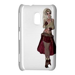 Steampunk Style Girl Wearing Red Dress Nokia Lumia 620 Hardshell Case by goldenjackal