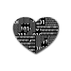 Beauty Of Binary Drink Coasters 4 Pack (heart)  by StuffOrSomething