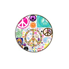 Peace Collage Golf Ball Marker 10 Pack (for Hat Clip) by StuffOrSomething