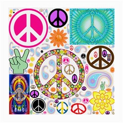 Peace Collage Glasses Cloth (medium, Two Sided)