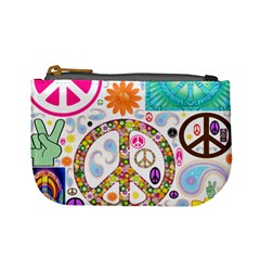 Peace Collage Coin Change Purse