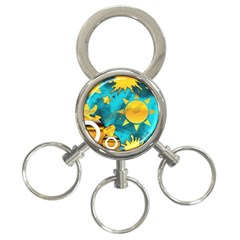 Musical Peace 3 Ring Key Chain by StuffOrSomething