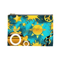 Musical Peace Cosmetic Bag (Large) by StuffOrSomething