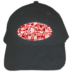Pretty Hearts  Black Baseball Cap by Colorfulart23