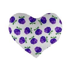 Purple Roses In Rows 16  Premium Heart Shape Cushion