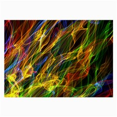 Colourful Flames  Glasses Cloth (large) by Colorfulart23