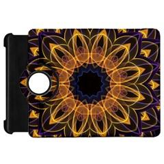 Yellow Purple Lotus Mandala Kindle Fire Hd 7  (1st Gen) Flip 360 Case