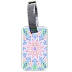 Soft Rainbow Star Mandala Luggage Tag (one Side) by Zandiepants