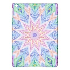 Soft Rainbow Star Mandala Apple Ipad Air Hardshell Case by Zandiepants