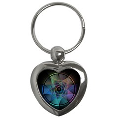 Pi Visualized Key Chain (heart) by mousepads123