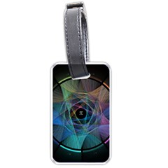 Pi Visualized Luggage Tag (one Side) by mousepads123