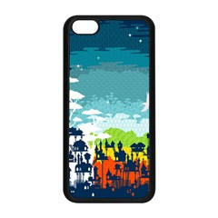 Rainforest City Apple iPhone 5C Seamless Case (Black) by Contest1888822