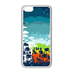 Rainforest City Apple iPhone 5C Seamless Case (White) by Contest1888822