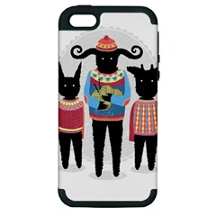 Nightmare Knitting Party Apple Iphone 5 Hardshell Case (pc+silicone) by Contest1888822