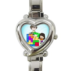 With You Life Just Fits Heart Italian Charm Watch  by CaterinaBassano