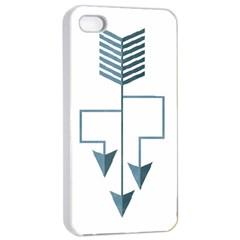 Arrow Paths Apple Iphone 4/4s Seamless Case (white)