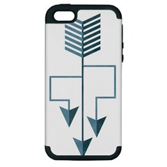 Arrow Paths Apple Iphone 5 Hardshell Case (pc+silicone)