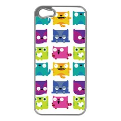 Cats Apple Iphone 5 Case (silver)