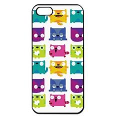 Cats Apple Iphone 5 Seamless Case (black)