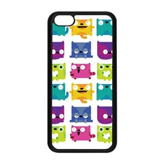 Cats Apple Iphone 5c Seamless Case (black)