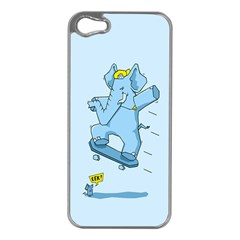 The Ollie Phant Apple Iphone 5 Case (silver) by Contest1893972