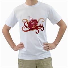 Monster Men s T Shirt (white)