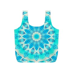 Blue Ice Goddess, Abstract Crystals Of Love Reusable Bag (s) by DianeClancy