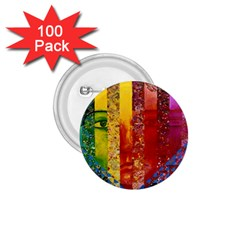 Conundrum I, Abstract Rainbow Woman Goddess  1 75  Button (100 Pack) by DianeClancy