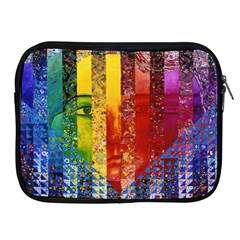 Conundrum I, Abstract Rainbow Woman Goddess  Apple Ipad Zippered Sleeve by DianeClancy