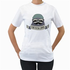 Hipster Sloth s Got Soul Women s T Shirt (white)