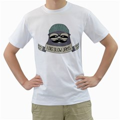 Hipster Sloth s Got Soul Men s T Shirt (white)