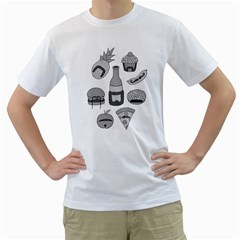 Food With Facial Hair Men s T Shirt (white)