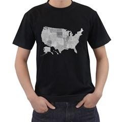 United Patterns Of America Men s T Shirt (black)