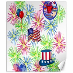 Patriot Fireworks Canvas 20  X 24  (unframed) by StuffOrSomething