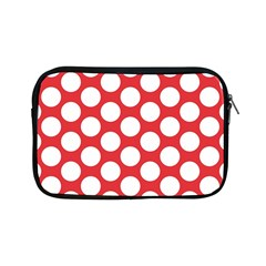 Red Polkadot Apple Ipad Mini Zippered Sleeve by Zandiepants