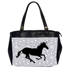 Unicorn On Starry Background Oversize Office Handbag (two Sides) by StuffOrSomething