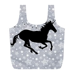 Unicorn On Starry Background Reusable Bag (l) by StuffOrSomething