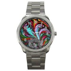 Special Fractal 02 Red Sport Metal Watch