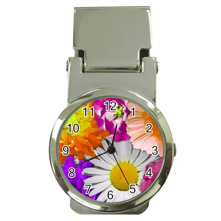Lovely Flowers,purple Money Clip with Watch