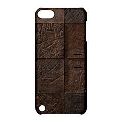Wood Mosaic Apple Ipod Touch 5 Hardshell Case With Stand
