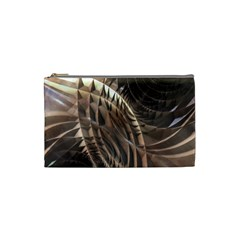 Copper Metallic Cosmetic Bag (Small) by CrypticFragmentsDesign