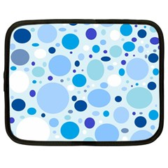 Bubbly Blues Netbook Sleeve (xl) by StuffOrSomething