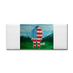 Painted Flag Big Foot Aust Hand Towel