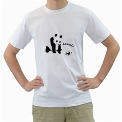 Panda Sneeze Men s T Shirt (white)