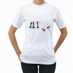Game Of Hearts Women s T Shirt (white)