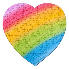 Acrylic Rainbow Jigsaw Puzzle (heart) by StuffOrSomething
