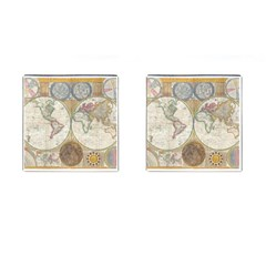 1794 World Map Cufflinks (square) by StuffOrSomething